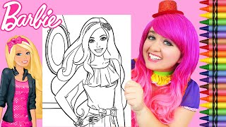 Coloring Barbie Dreamhouse GIANT Coloring Page Crayola Crayons | KiMMi THE CLOWN