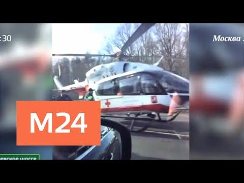 6 детей пострадали при столкновении грузовика с маршруткой - Москва 24