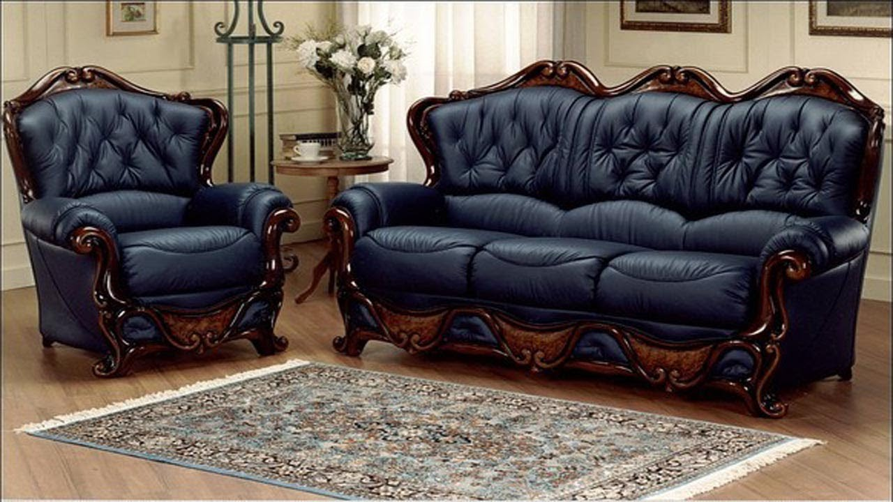 Leather Sofa Set Designs For Living Room Ideas In India Leather Couch Latest Youtube