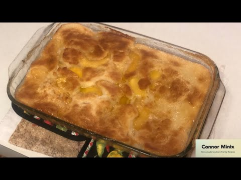 How to Make 5-Ingredient Peach Cobbler! - EASY!