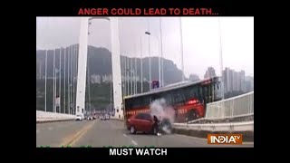 China bus accident: Fight between bus driver and passenger caused tragedy, reveals video footage