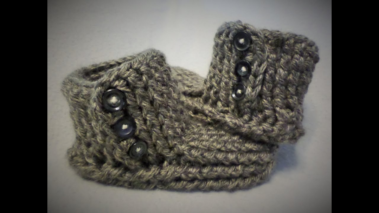 Crochet Slipper boots tutorial - (One stop slipper sock) - Part two ...