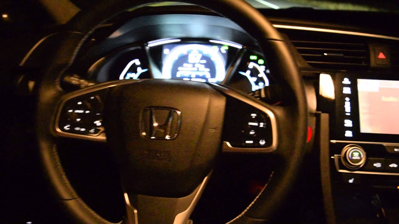 2016 honda civic 0 60 and honda sensing driving by itself youtube. Black Bedroom Furniture Sets. Home Design Ideas