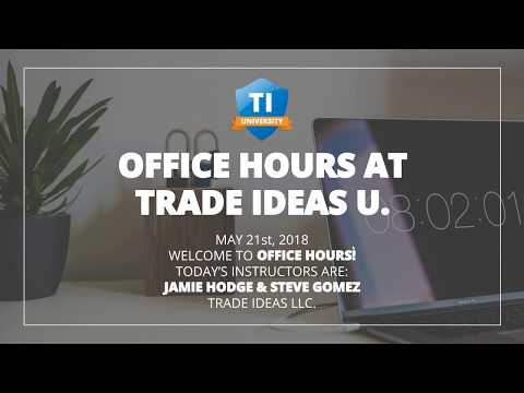 2018 05 21 14 02 Office Hours with Trade Ideas