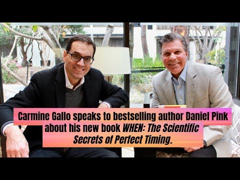 Carmine Gallo interviews bestselling author Daniel Pink