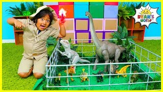 Ryan works at Jurassic World protecting Dinosaurs from The Indominus Rex!!!