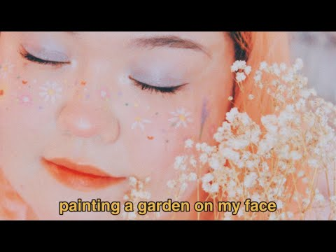 flower freckles aesthetic makeup 💐
