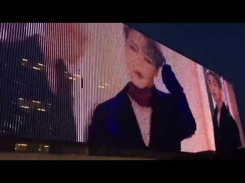 JIMIN'S FACE ON BILLBOARD IN AMSTERDAM NETHERLANDS.