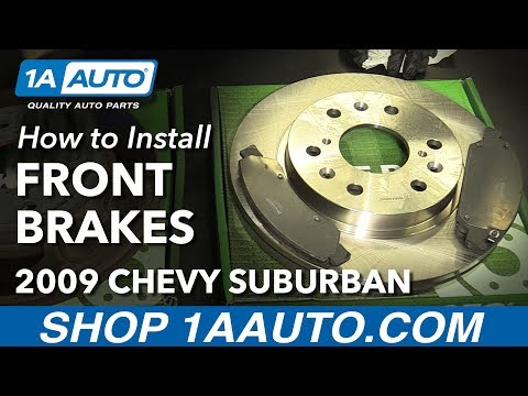 How to Install Front Brakes Pads Rotors 08-13 Chevy Suburban 1500