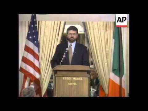 USA: Sinn Fein Leader Gerry Adams Visit  1995