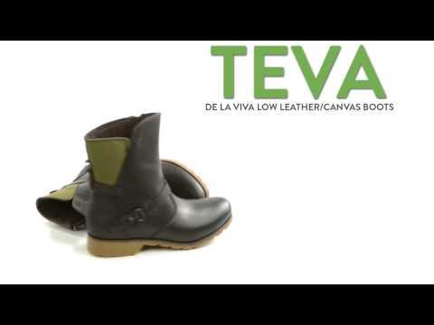 Teva De La Vina Low Boots - Leather-Canvas (For Women)