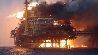 Нефтяная платформа взорвалась в Мексиканском заливе