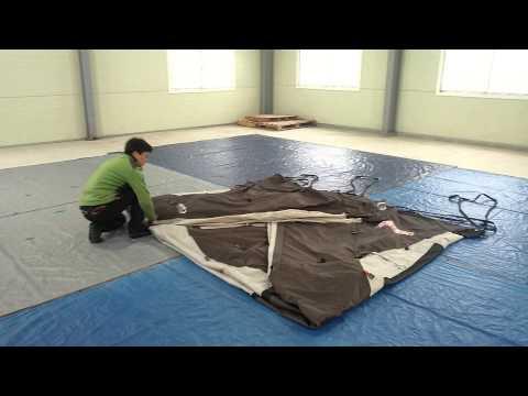 [텐트깔끄미] 거실형 텐트 1명이 접는 방법 - �