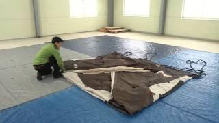 [텐트깔끄미] 거실형 텐트 1명이 접는 방법 - 콜맨 …
