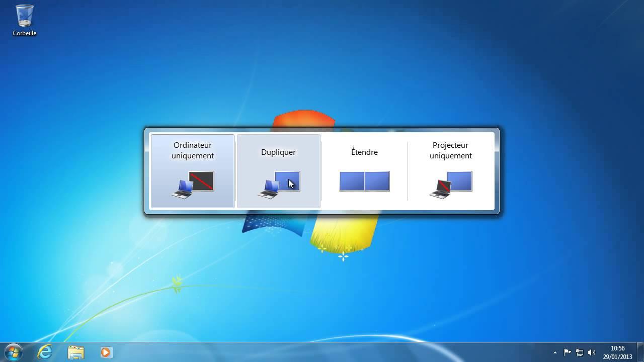 Se connecter à un projecteur avec Windows 7 - YouTube