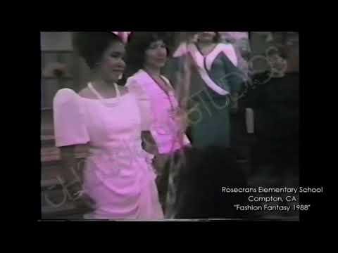 """Rosecrans Elementary School, Compton, CA """"Fashion Fantasy 1988"""""""