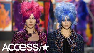 Bella Hadid & Kaia Gerber Slay The New York Fashion Week Runway In Wild Wigs | Access