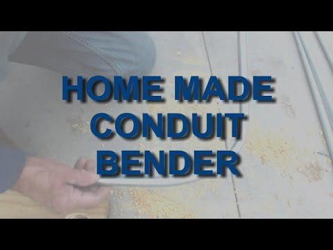HOME MADE CONDUIT BENDER - YouTube