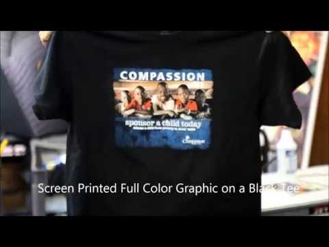 Compassion simulated process 6 color shirt w/ Union Inks & Separations with T-Seps 3.0