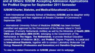 Avicenna Directory of Medicine Listed and Acceprable at GMC-UK & MCNZ: IUSOM PreMed Admissions