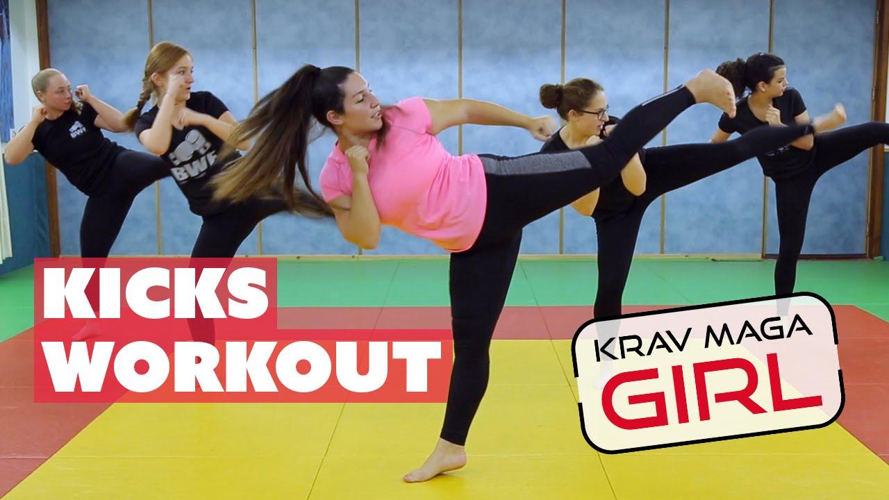 Krav Maga Girl Kicks Workout Youtube