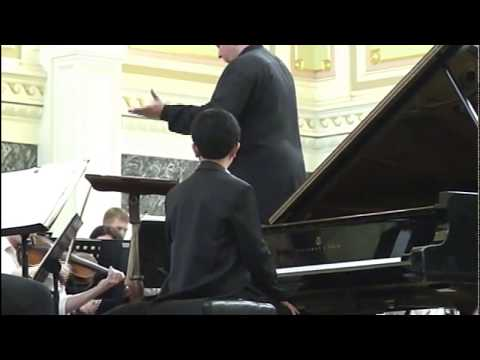 Tchaikovsky Piano Concerto no 1 - John Yang 13 years old - St. Petersburg