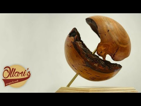 Turning Worthless Firewood Into Wooden Sphere Art Piece
