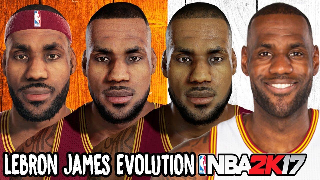 fc3fe75cd7b1 Lebron James Evolution - Face Comparison (NBA 2K4 - NBA 2K17) - YouTube