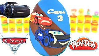 Huevo Sorpresa Gigante de Jackson Storm de Cars 3 de Plastilina Play Doh en Español