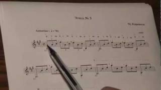 28.Ю. Кузнецов Уроки игры на гитаре Этюд № 3 (теория)