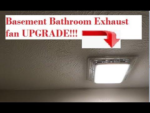 Bathroom Exhaust Fan In The Basement, How To Install A Bathroom Exhaust Fan In Basement