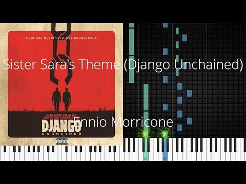 🎹 Sister Sara's Theme (Django Unchained), Ennio Morricone, Synthesia Piano Tutorial