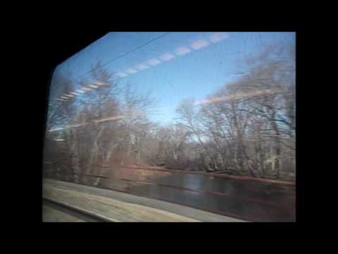 Me riding the MBTA commuter rail from Hyde Park to Mansfield- Thu Mar 9, 2017
