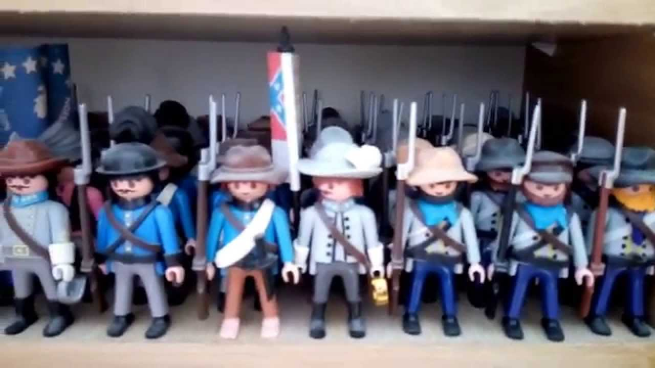 1 playmobil civil war soldaten customs youtube - Playmobil soldat ...