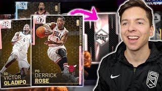 PINK DIAMOND PULLS! THROWBACK PLAYOFF MOMENTS! Derrick Rose, Oladipo, JR Smith! NBA 2K19