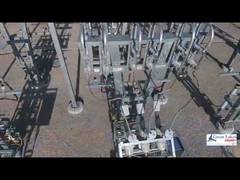 Great Lakes Energy UAV Test over substation and power lines