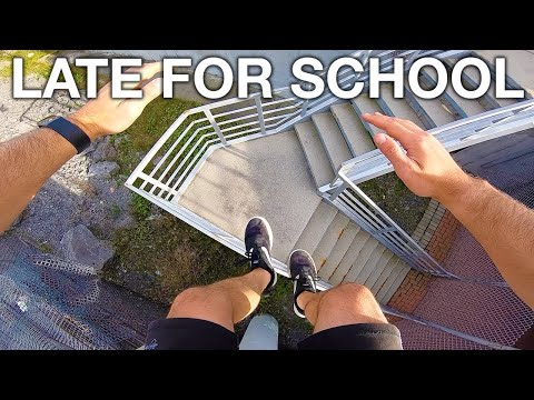 Late For School Parkour POV