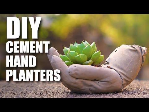 DIY Cement Hand Planters | Room Decor DIY | Mad Stuff With Rob