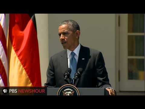 President Obama and Chancellor Merkel speak about Russia, spying and the economy