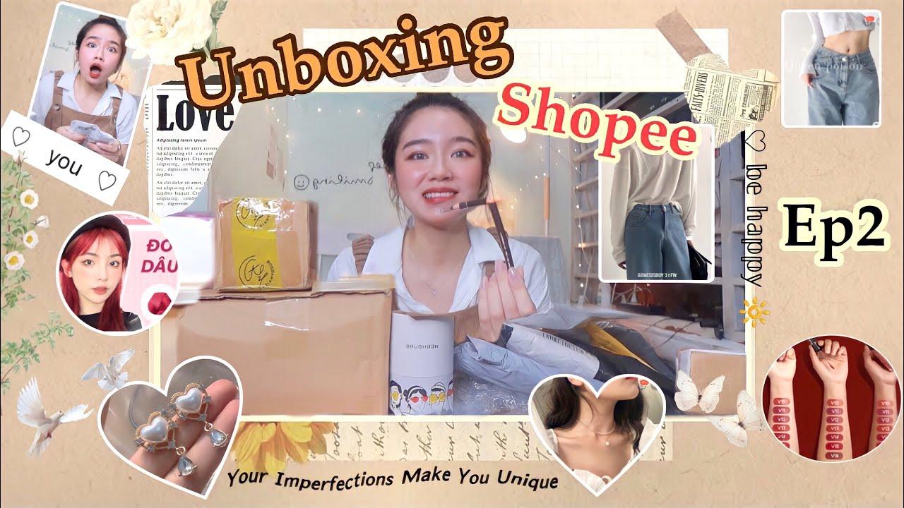 [Shopee Haul#3] Thập cẩm unboxing quần áo,mỹ phẩm,túi xách.,,giá HSSV #shopee #shopeehaul #unboxing
