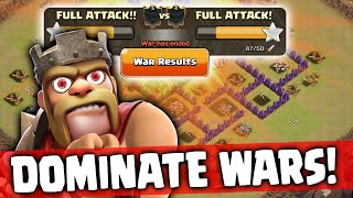 DOMINATE Clan Wars ♦ 3 Star Town Hall 8 Attack Strategies ♦ Clash of Clans ♦
