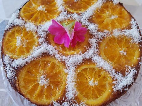gâteau-à-l'orange-et-noix-de-coco-simplifié-et-moelleux-(bessboussa)