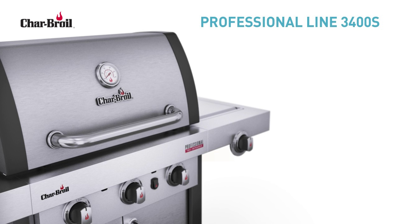 char broil professional 3400s gasgrill entdecke alle features youtube. Black Bedroom Furniture Sets. Home Design Ideas