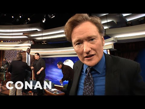Exclusive Video: We Get In Conan's Face During The Commercial Break - CONAN on TBS
