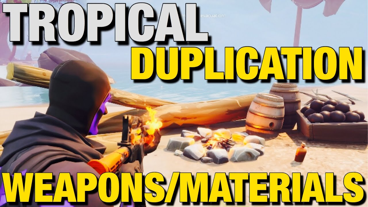 *NEW* Tropical Duplication Glitch V13.21 (WEAPONS/MATERIALS) Fortnite Save The World