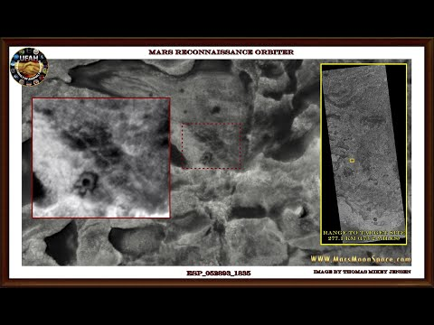 Martian Constructions Seen From Satellite Orbiting The Planet