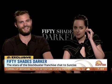 Jamie Dornan & Dakota Johnson talk Fifty Shades Darker (Australian TV)