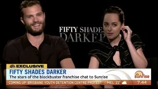 Jamie Dornan & Dakota Johnson talk Fifty Shades Darker (Australian TV)