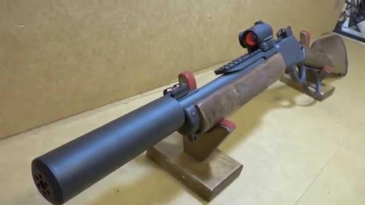 Marlin 1894 357 Magnum Suppressed Sbr With Sniper Gray
