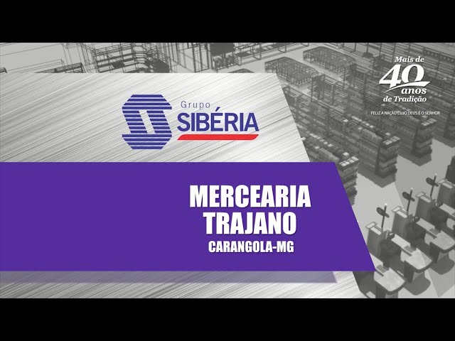Loja Inaugurada - Mercearia Trajano - Carangola/MG